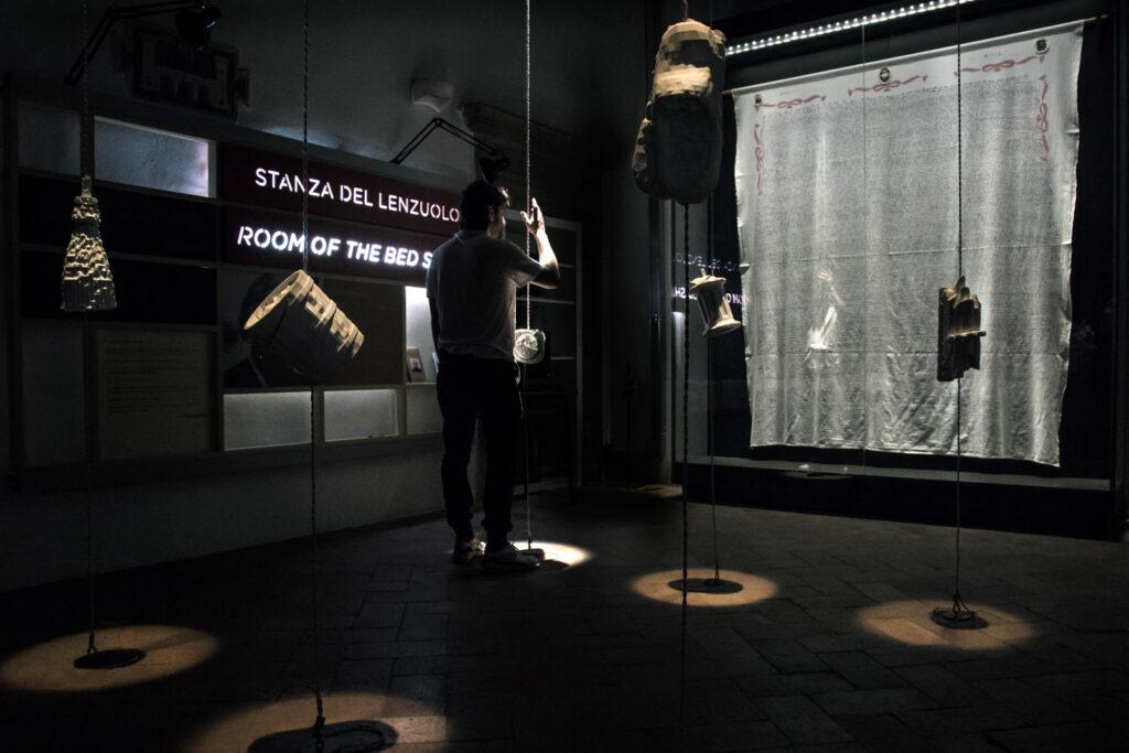 il Lenzuolo di Clelia Marchi nel Piccolo museo del diario - foto di Luigi Burroni