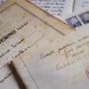 Manoscritto originale di Corrado Perissino - foto Luigi Burroni